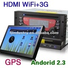 Car PC DVD with 7 Inch Detachable Android 2.3 Tablet Panel with 3G WiFi GPS Bluetooth