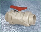 PPH plastic true union ball valve