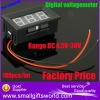 Mini Red LED Digital Voltage Volt Meter 4.5~30V For 9V 12V 24V