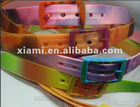 2013 Mixed color Silicone tpe Belts