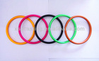 Quality babysling ring,colorful aluminium ring for babysling