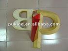 decorative PU foam letters/PU foam letter of A/wood like letters/foam wall letters/pu factory