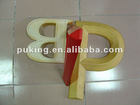 decorative PU foam letters/PU foam letter of A/wood like letters/foam wall letters/pu factory