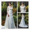 romantic lace high-quality satin wedding dress,bridal gown WD004