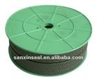 Pure PTFE Black Packing/ packing material/with oil