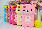 NEW Arrived 3D Relax Rilakkuma Bear Cover Case For iphone 4G/4S