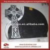 Cross carving headstone