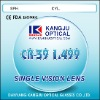 CR-39 1.499 Single Vision Uncoat organic lens