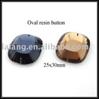 Wholesale New Arrival Oval Plane Resin Button Jewelry Accssory