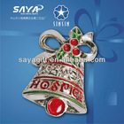 Newest Classical Design! Hot-selling Pewer Soft Enamel Christmas Hat Pin Badge