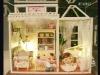 diy Miniature wood house ,dolls toy weeden house --Sweet, lingering music
