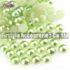 High Quality ABS/Plastic Half Pearl Beads (Peridot Color)