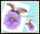 orchid fascinator feather flower brooch corsage brooch