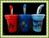 Plastic PP Kids straw drinking cup LX-8800W01
