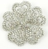 White vintage wedding flower brooches