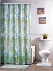 100% Polyester printed PEC/PV coated Shower Curain/Bath Curtain 026