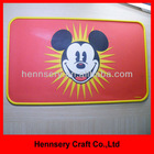 rubber OEM design logo small moq anti-slip pet food mat