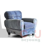 GE01F Jean's sofa, gentleman's club chair, jean fabric sofa