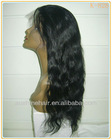 High Quality Long Natural Wavy Full Lace Wig Color#1b