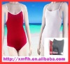 Women Swimming Suit with White Ribbon Edge