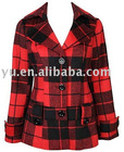Wool Plaid Coat