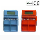 24hours countdown 4 groups alarm pill box timer