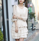 2012 women white casual dress