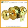 High quality brass made polished brass finish cylindrical bathroom locks