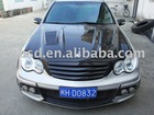 01-07 C CLASS W203 BS STYLE CARBON FIBER GRILL FOR BENZ