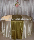 Satin table runner for round table and table runner
