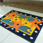 printed anti-slip mat latex back