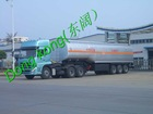 12 tires semi-trailer big volume fuel tank truck