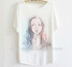 mostr popular short sleeve lady fashion t shirt in 2013 summer