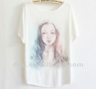 mostr popular short sleeve lady fashion t shirt in 2013 summer