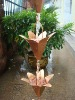 8feet copper lily rain chain ,free gutter adaptor
