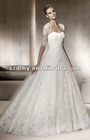 Latest Arrival Applique Three-Quarter sleeves Lace wedding dress JY-141