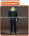 bachelor uniforms high school uniforms gown with hood and cap