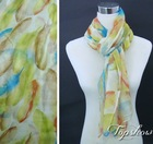 fashion feather printed scarf