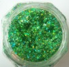 green PET glitter powder