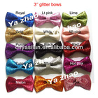 "3"" glitter hair bows IN STOCK HOT SELLING"