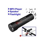 3 in 1 Multifunctional Music Player LED Bicycle Flashlight Torch (MP3 Player + Speaker + Flashlight)-Black