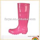 pvc hunt rain boot for woman