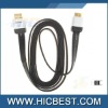 Gold-Plated Flat High Speed 2m DLC-HE20HF 3D HDMI Cable for Xbox360 PS3 - Black
