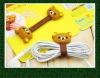 customize cute cartoon design of rubber mobile accessories of earphone bobbin winder