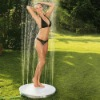 Round water raise up Free standing outdoor shower set