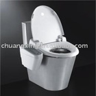 Stainless steel standard siphon toilet with water tank