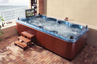Swim spa 8 person hydro massage bubble bath spa
