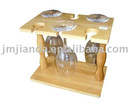 Bamboo Wine cup Rack