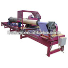 Log debarking lathe/log peeling lathe/round wood turning lathe