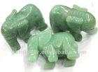 CVL031 Elephant carvings green aventurine gemstone beads 2 inch